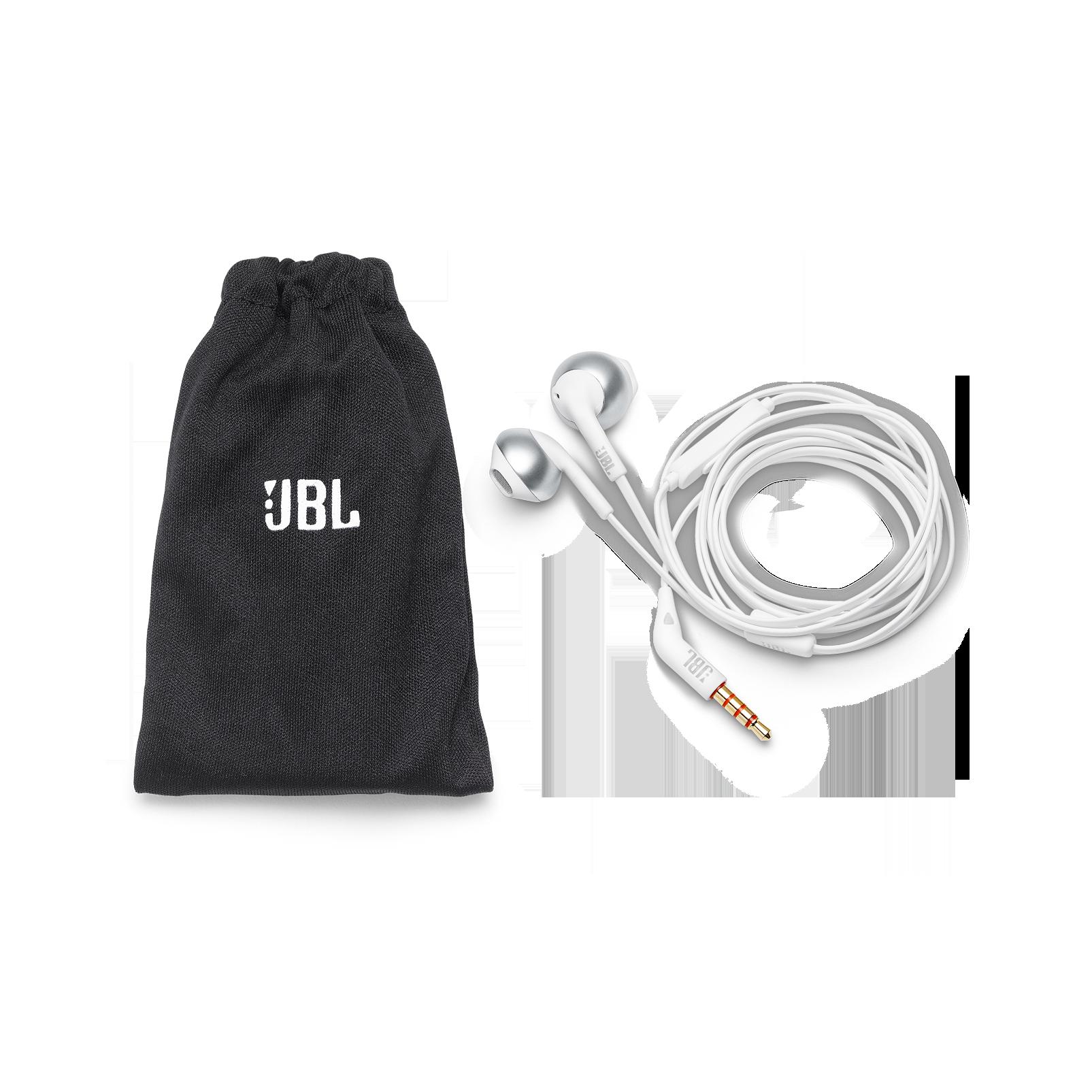JBL TUNE 205 - Chrome - Earbud headphones - Detailshot 2