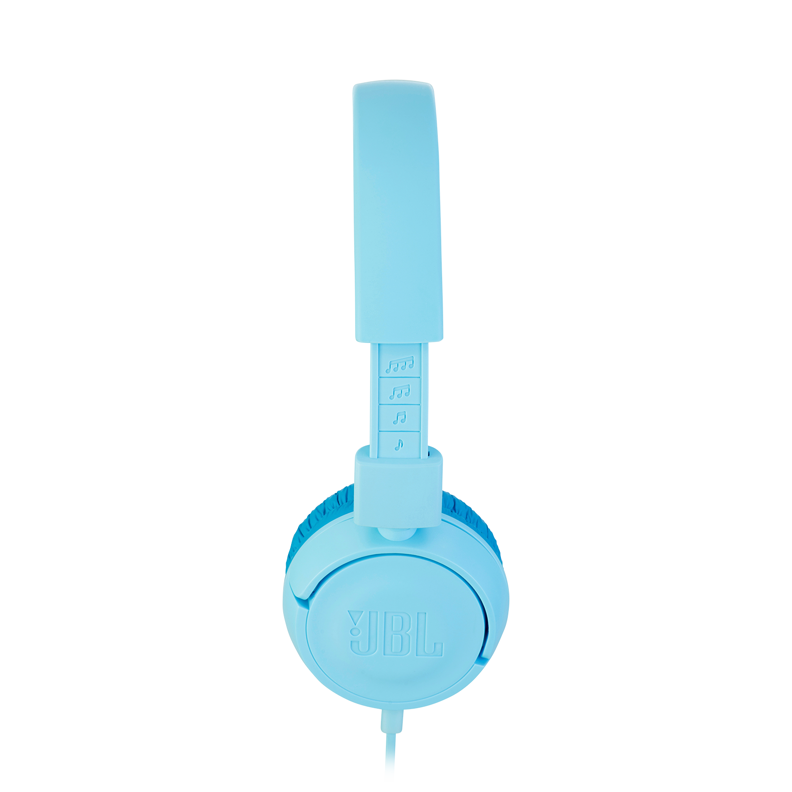 JBL JR300 - Ice Blue - Kids on-ear Headphones - Detailshot 2