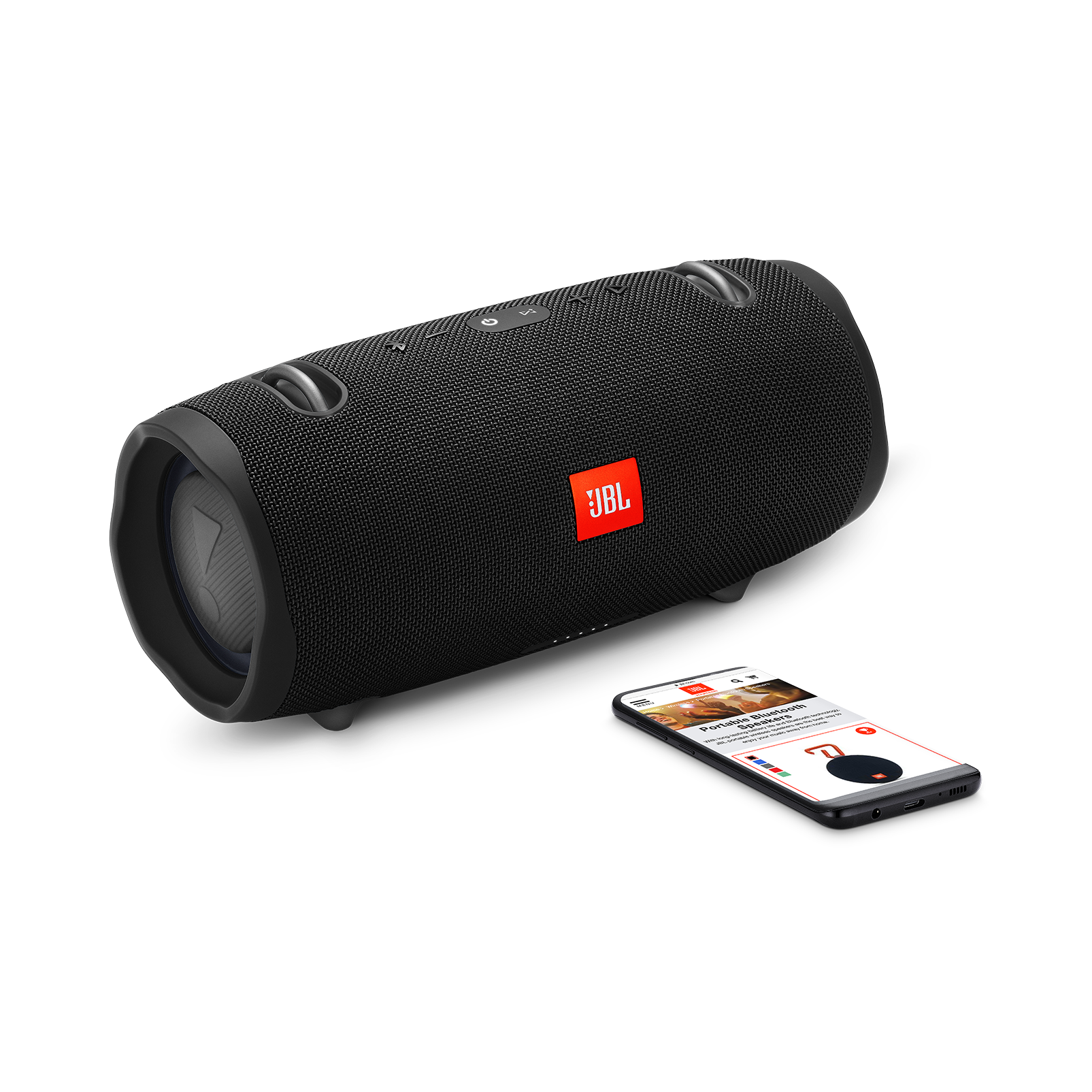 JBL Xtreme 2 - Midnight Black - Portable Bluetooth Speaker - Detailshot 1