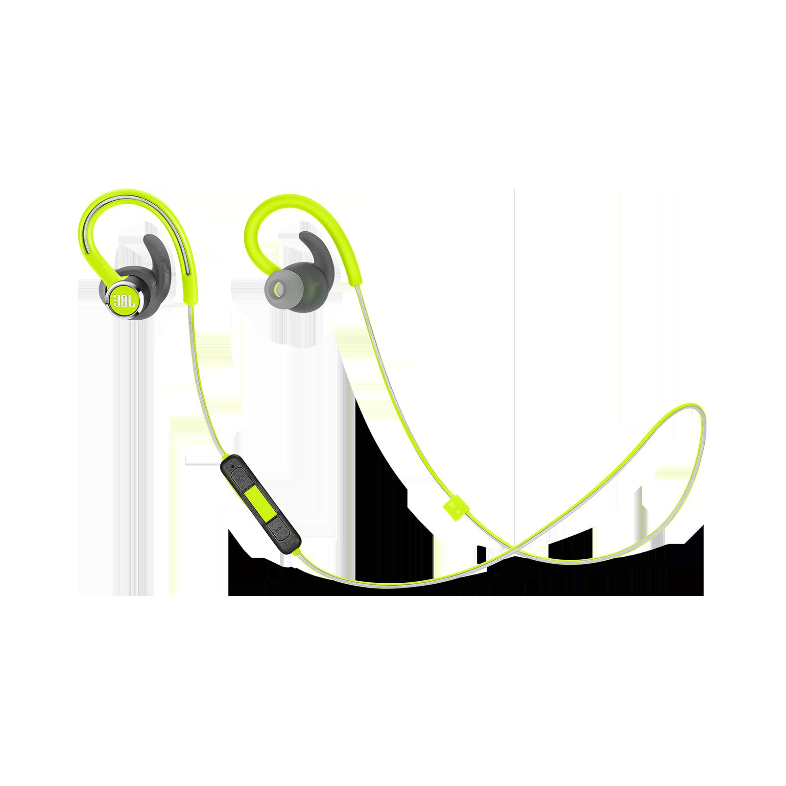 JBL Reflect Contour 2 - Green - Secure fit Wireless Sport Headphones - Hero
