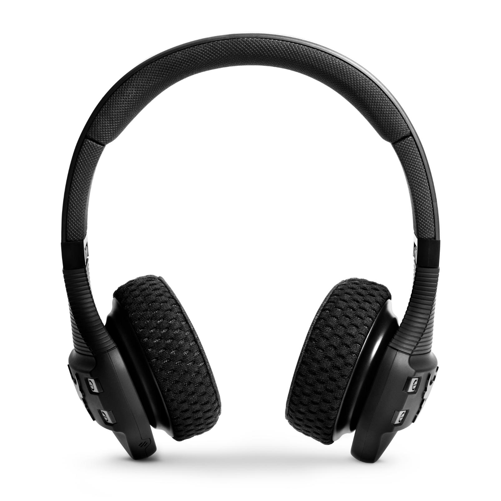 UA Sport Wireless Train Project Rock – Engineered by JBL - Black - On-ear sport Headphones - Front