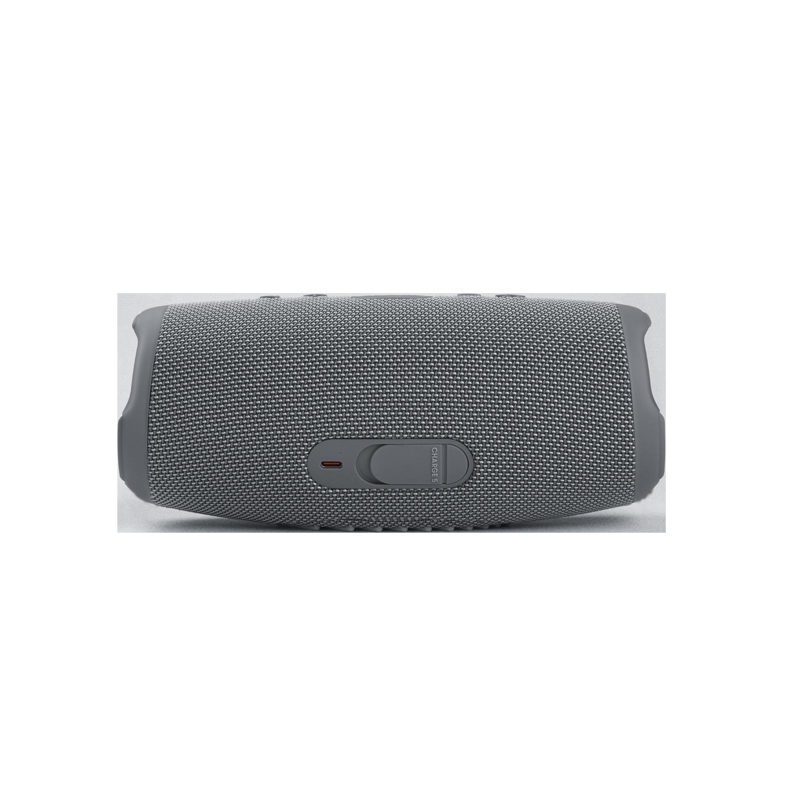 JBL CHARGE 5 - Grey - Portable Waterproof Speaker with Powerbank - Back