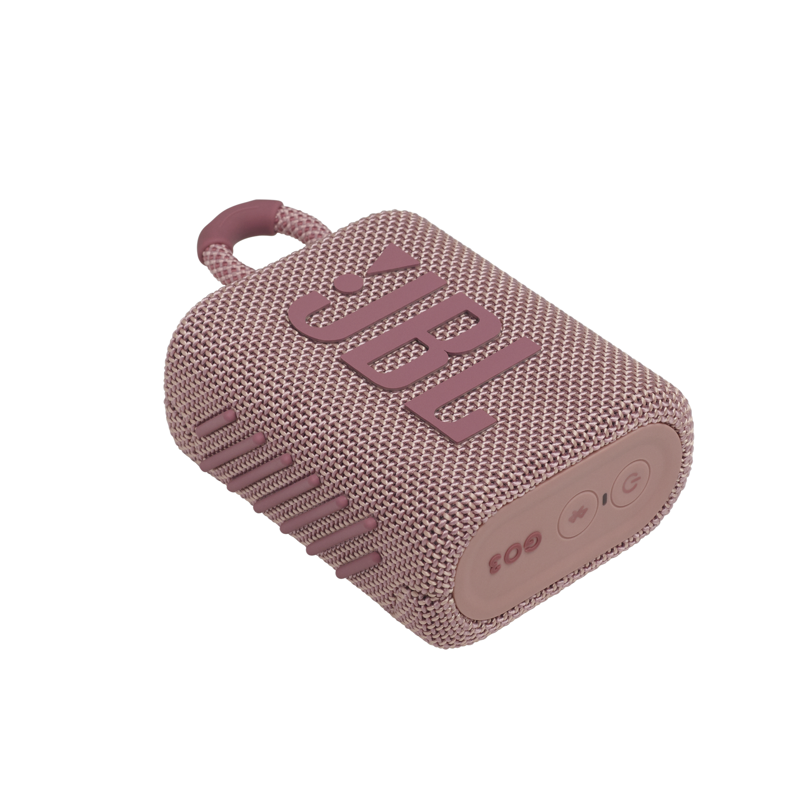 JBL GO 3 - Pink - Portable Waterproof Speaker - Detailshot 3
