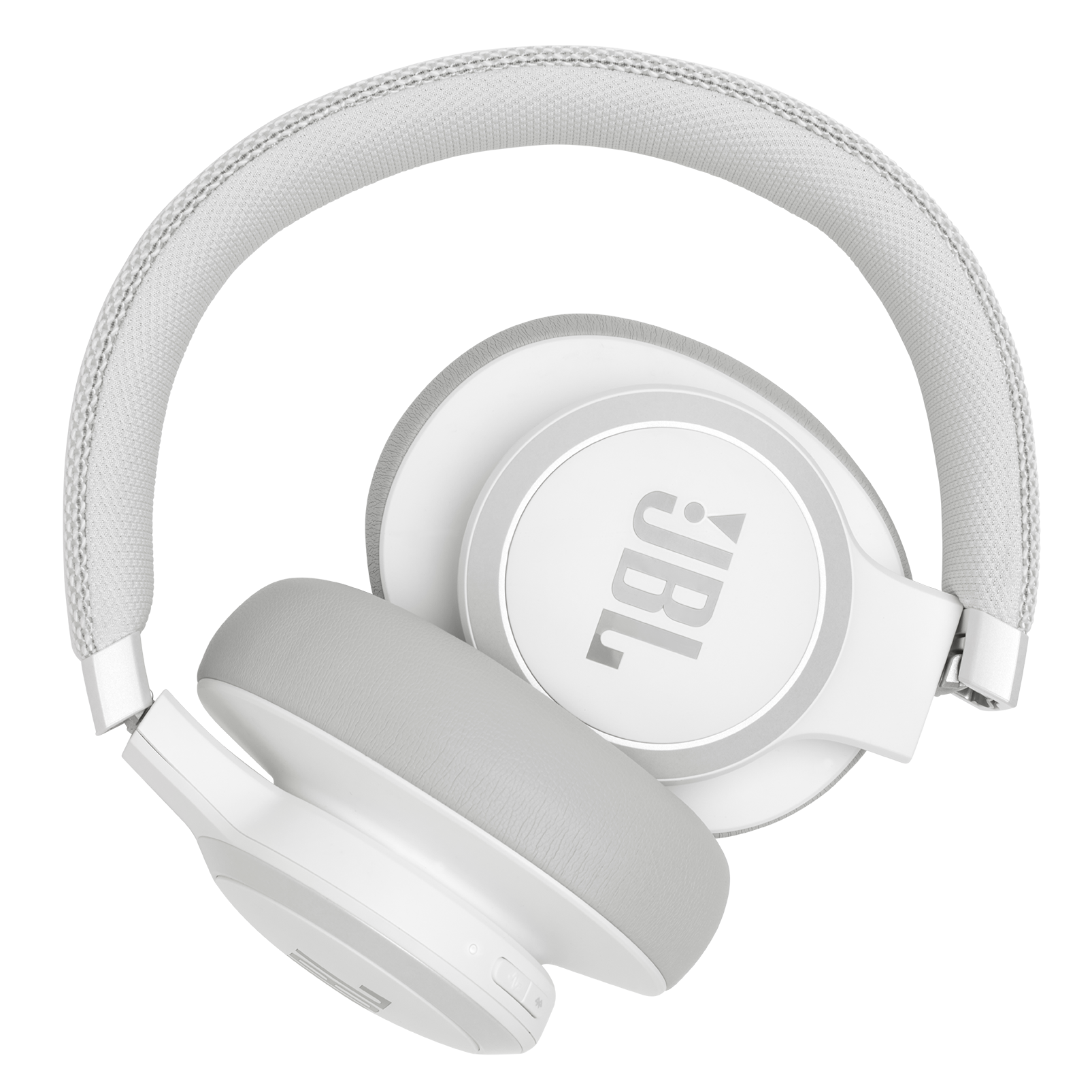 JBL LIVE 650BTNC - White - Wireless Over-Ear Noise-Cancelling Headphones - Detailshot 6
