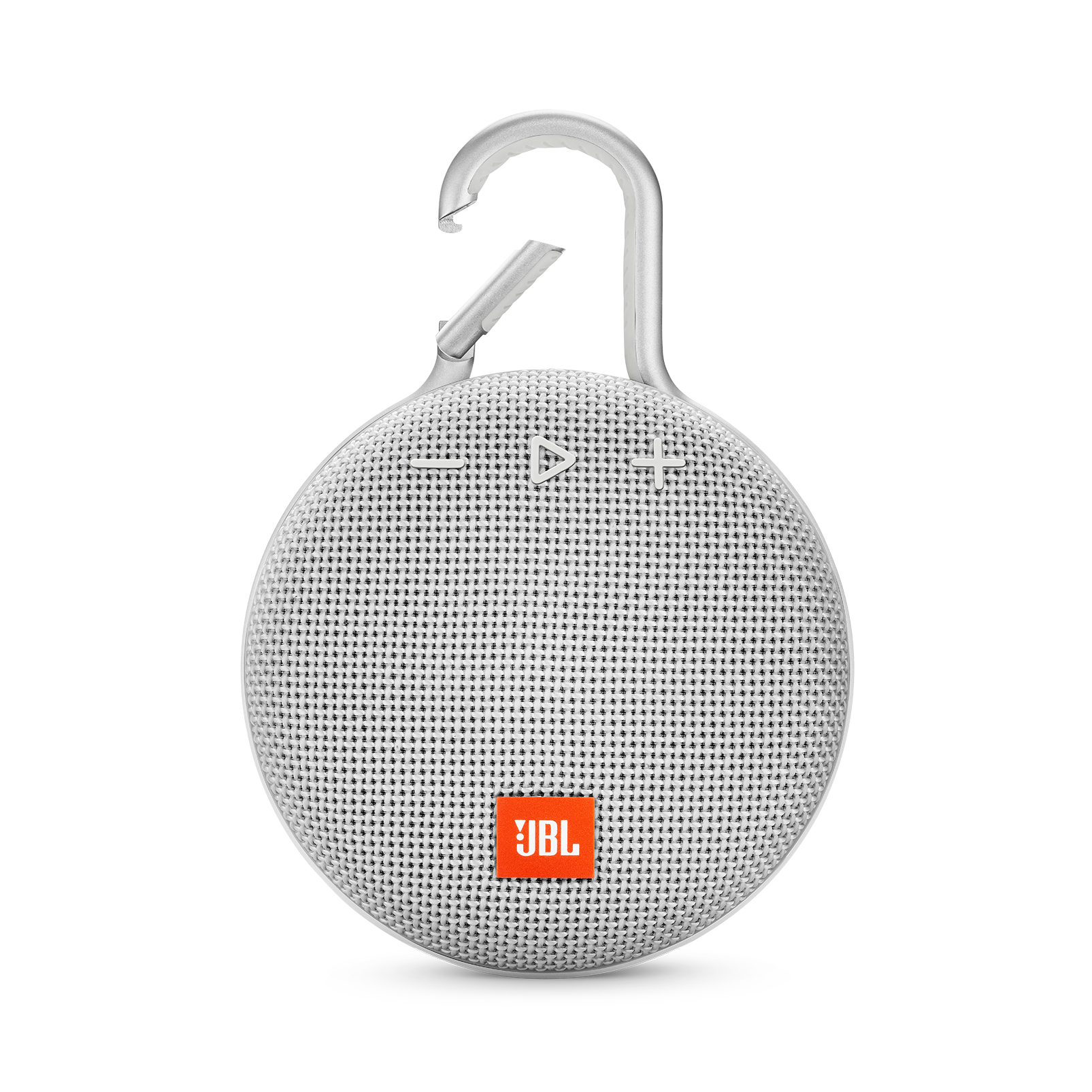 JBL CLIP 3 - Steel White - Portable Bluetooth® speaker - Front