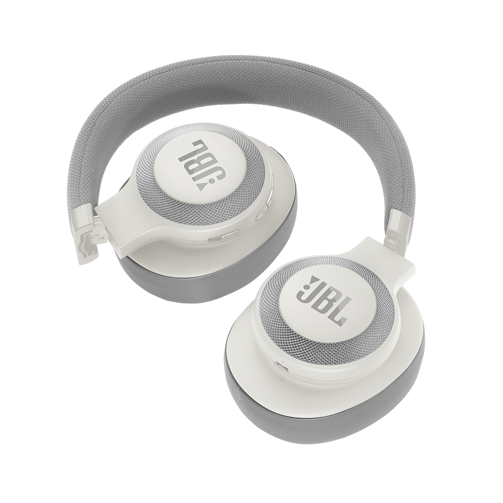 JBL E65BTNC - White - Wireless over-ear noise-cancelling headphones - Detailshot 2