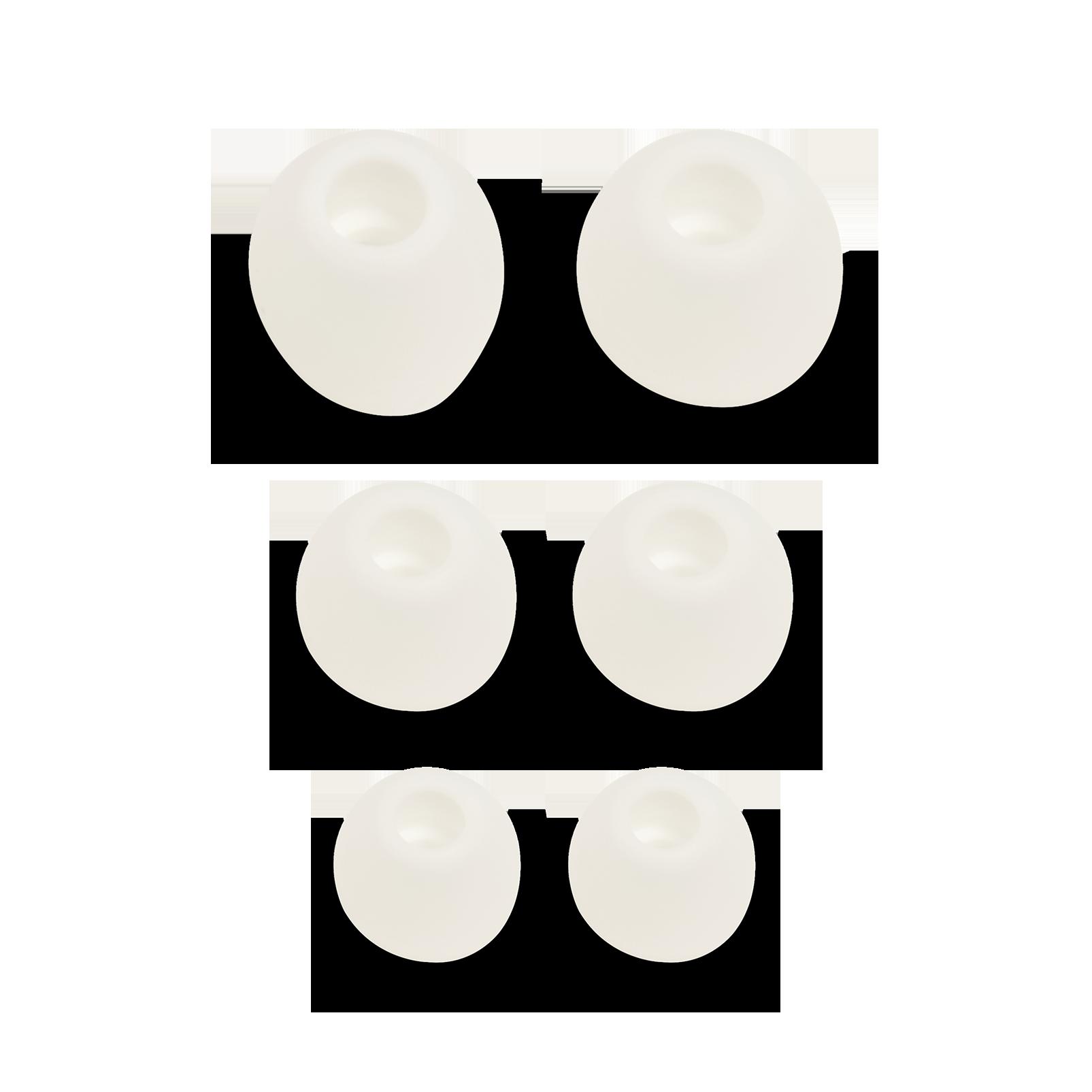 Ear tips set for V110BT - Silver - Ear tips S+M+L (L+R) - Hero