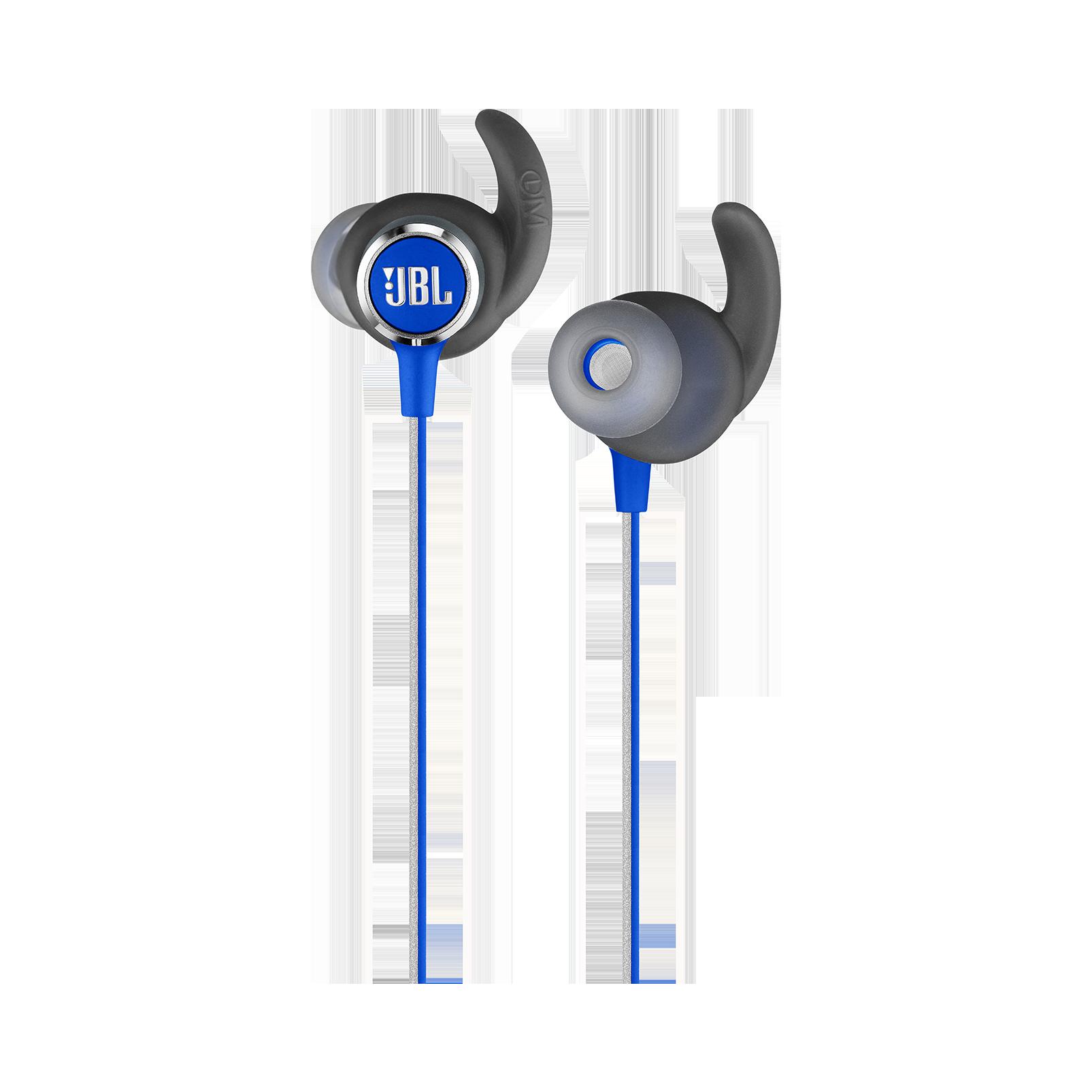JBL REFLECT MINI 2 - Blue - Lightweight Wireless Sport Headphones - Detailshot 1