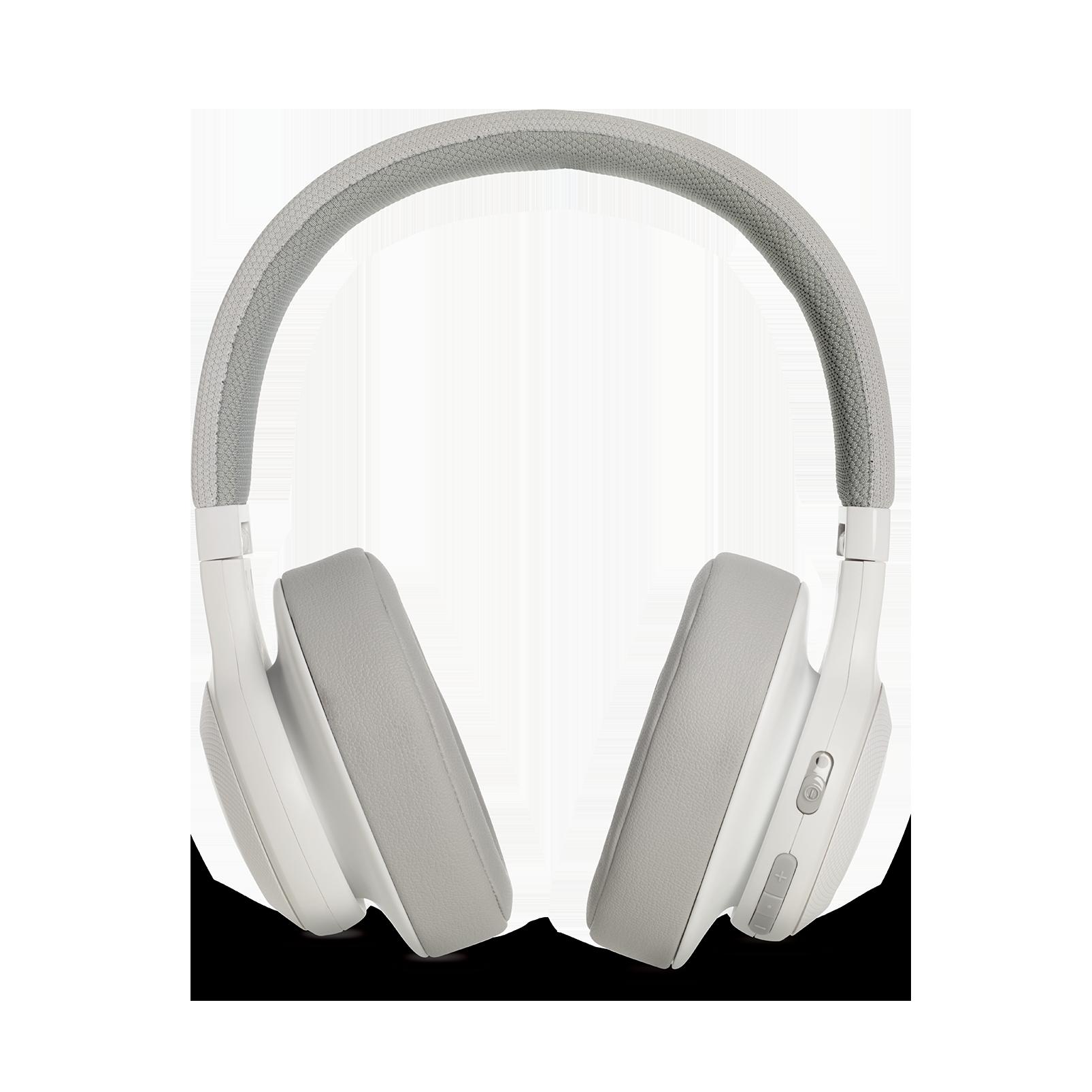 JBL E55BT - White - Wireless over-ear headphones - Detailshot 4