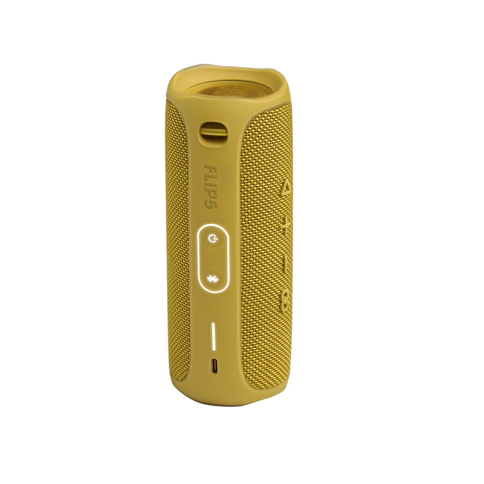 JBL FLIP 5 - Mustard Yellow - Portable Waterproof Speaker - Back
